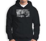 Hunting Archer American Flag Bowhunting Hunter Men Sweatshirt & Hoodie