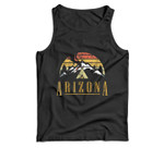 Vintage Arizona Mountains Camping Campfire Retro Men Tank Top
