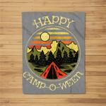 Happy Camp-O-Ween Funny Halloween Camping Kids Fleece Blanket