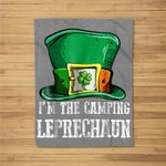 I'm The Camping Leprechaun Costume St Patricks Day Kids Fleece Blanket