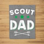Scout Dad Funny Father's Day Gift Scouting Camping Kids Fleece Blanket