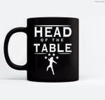 Head Of The Table Ceramic Coffee Black Mugs