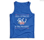 Horse For Women Easily Distracted By Dogs And Horses Men Tank Top