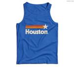 Houston Texas Houston Strong Vintage Stripes Men Tank Top