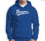 Braves Mascot Vintage Sports Name Design Sweatshirt & Hoodie