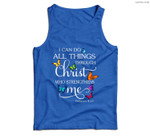 I Can Do All Things Through Christ Butterfly Art - Religious Men Tank Top