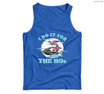 I Do It for the Hos Christmas in July Jetski Fun Santa Xmas Men Tank Top