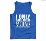 I Only Care About Anime Men Tank Top