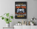 I Was Forced To Put My Controller Down Funny Gaming Premium Wall Art Canvas Decor