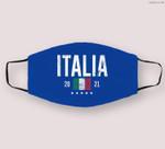 Italy Soccer 2021 Italian Flag Football Vintage Cloth Face Mask