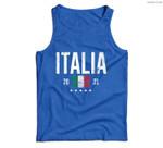 Italy Soccer 2021 Italian Flag Football Vintage Men Tank Top