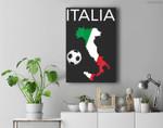 Italy Soccer Italian Italia Forza Azzurri Premium Wall Art Canvas Decor