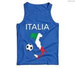 Italy Soccer Italian Italia Forza Azzurri Men Tank Top