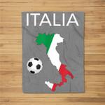 Italy Soccer Italian Italia Forza Azzurri Fleece Blanket