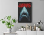 Jaws Classic Movie Poster Close-Up Premium Wall Art Canvas Decor