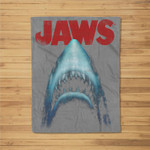 Jaws Classic Movie Poster Close-Up Fleece Blanket