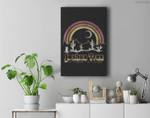 Joshua Tree Desert Rainbow Vintage Retro Outdoors Premium Wall Art Canvas Decor