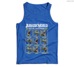 Jurassic World Two Blue Raptor Expressions Graphic Men Tank Top