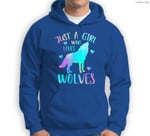 Just a Girl Who Loves wolves Watercolor Cute wolf lover Sweatshirt & Hoodie