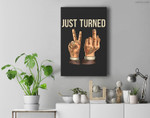 Just Turned 21 (21 birthday gifts) Premium Wall Art Canvas Decor