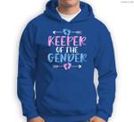 Keeper of the Gender - Cute Gender Reveal Baby Shower Design Sweatshirt & Hoodie