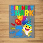 Kids Baby Cute Shark Birthday Boy 2 Year Old Gift - Doo Doo Doo Fleece Blanket