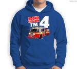 Kids Fire Truck 4th Birthday Boy Firefighter 4 Year Old Sweatshirt & Hoodie