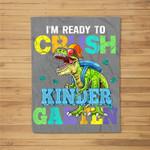 Kids I'm Ready To Crush Kindergarten Dinosaur Back To School Kids Fleece Blanket