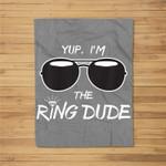 Kids Yup I'm The Ring Dude - Funny Kids Ring Bearer Fleece Blanket