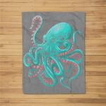 Kraken Octopus Fleece Blanket