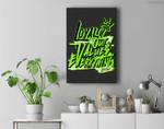 L.O.V.E Graphic Match Jordan 6 Electric Green Premium Wall Art Canvas Decor