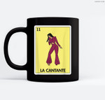 La Cantante Lottery Gift - Mexican Lottery Ceramic Coffee Black Mugs