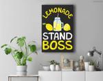 Lemonade Stand Boss Lemon Juice Gift Premium Wall Art Canvas Decor