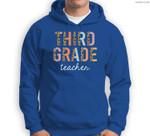Leopard Third Grade Teacher 3rd Grade Back to School Supplie Sweatshirt & Hoodie