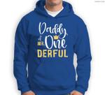 Mens Daddy of Mr Onederful 1st Birthday First One-Derful Matching Sweatshirt & Hoodie