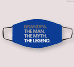 Mens GRANDPA THE MAN THE MYTH THE LEGEND Father's Day Men Cloth Face Mask