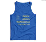 Mens Husband Daddy Protector Hero Fathers Day Flag Gift Men Tank Top