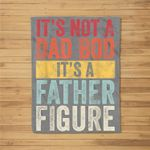 Mens It's Not A Dad Bod It's A Father Figure, Funny Retro Vintage Fleece Blanket