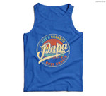 Mens PAPA like a Grandpa ONLY COOLER Funny Dad Papa Definition Men Tank Top