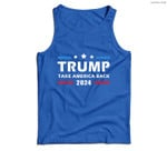 Mens Trump 2024 Take America Back Election Patriotic Second Term Men Tank Top