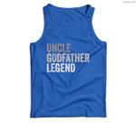 Mens Uncle Godfather Legend For A Favorite Uncle Family Baptism Men Tank Top