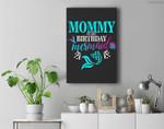 Mommy Of The Birthday Mermaid Matching Family Premium Wall Art Canvas Decor
