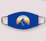 Mountain Sunset Circle Rainbow Outdoors Nature Hiking Fan Cloth Face Mask