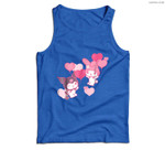 My Melody and Kuromi Valentine's Day Hearts Men Tank Top