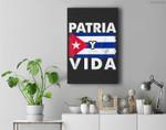 Patria Free Cuba Libre Cuban Flag Premium Wall Art Canvas Decor