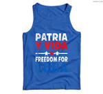 Patria-y-vida Freedom For Cuba Cuban Flag Vintage Retro Men Tank Top
