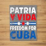 Patria-y-vida Freedom For Cuba Cuban Flag Vintage Retro Fleece Blanket