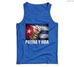Patria-Y-Vida, Cuba Flag, Cuban Fist, Free Cuba, Cuba Gift Men Tank Top