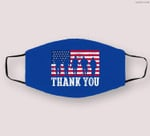 Patriotic American Flag Thank You Men Women Girls Boys Kids Cloth Face Mask