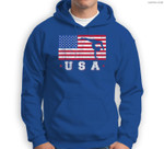 Patriotic Sports Gift American USA Flag Girls Gymnastics Sweatshirt & Hoodie